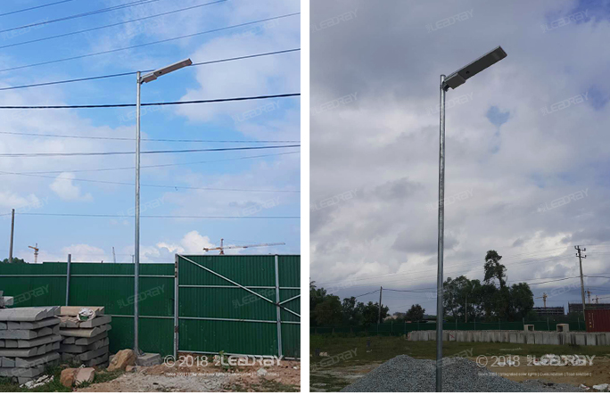 30w solar street light project