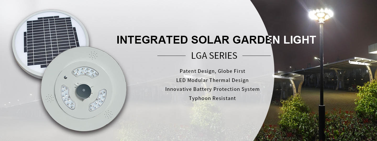 Integrated Solar Garden Light Design
